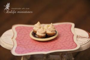 Dollhouse Miniature cake Dollhouse miniatures 1:12 Пирожные Кукольная миниатюра
