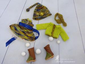 "Lati Yellow\Irrealdoll\Pukifee\Nikki Britt Outfit ""Cute forest gnome"" dress for bjd dolls format tiny PukiFee/Aquarius/Lati Yellow To ORDER"