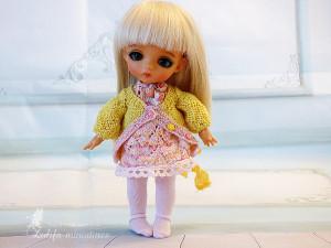 Pukifee Lati Yellow Irrealdoll Nikki Britt knitted outfit Sun rose knitted dress for bjd dolls format tiny PukiFee Aquarius Lati bjd clothes