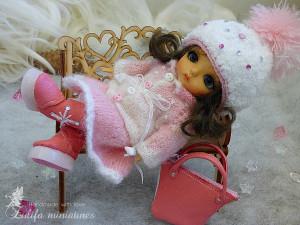 "Pukifee\Irrealdoll\Lati Yellow dress Outfit ""Rose snowflake""for dolls format Tiny (PukiFee/ Aquarius/Lati Yellow) Lati dress TO ORDER"
