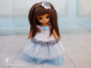 Tiny BJD Doll Outfit Pukifee Lati Yellow Outfit Blue lady Doll dress for dolls Lati yellow clothes Pukifee clothes for dolls clothes for BJD