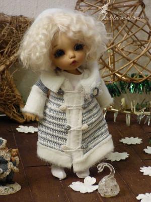 "Lati Yellow\Irrealdoll\Pukifee\Nikki Britt\Aquarius doll knitted Outfit ""The snow Maiden"""" for dolls PukiFee\Lati Yellow\clothes for bjd"