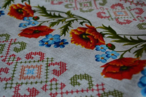 Christmas tablecloth, Christmas present.linen tablecloth.rustic tablecloth.Ukrainian tablecloth.Mom's gift,linen tablecloth