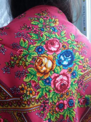 Ukrainian shawl, Traditional gifts for women, shawl bohemian scarf flower, Gift for Christmas, Big Folk Scarf,
