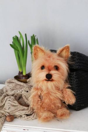 Yorkshire Terrier dog, custom pet portrait, stuffed puppy animal, Yorkie gift, pet memorial, realistic art doll