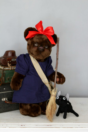 Kiki's Delivery Service Teddy bear, anime plush toy