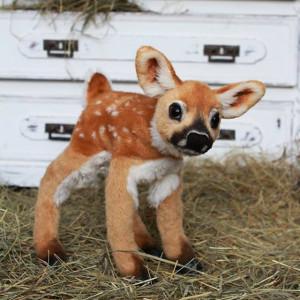 Bambi little deer, Fawn Teddy Bear, Realistic deer, Animals from cartoons, Baby deer, Forest animal, Cartoons toy, Woodland deer, Disney toy