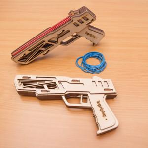 Handgun rubber band gun plywood Kit
