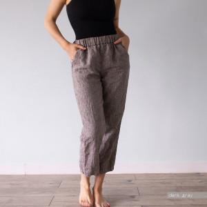PANTS LINEN, womens high waisted trousers, high rise trousers, trousers women, 100% linen, high waisted trousers, highwaisted Len.Ok