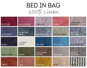 LINEN bed in bag SET duvet cover set bedding set 8 products: Duvet cover, bedskirt, Linen sheets, Linen pillowcases. Full queen king twin