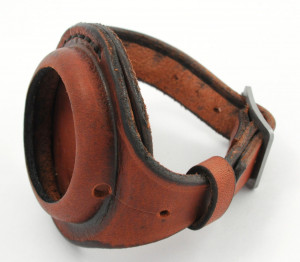 BRAND NEW hand-made leather strap  wristband for POCKET WATCH 50mm