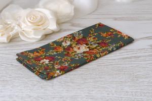 Pocket square Floral Teal Meadow SALE