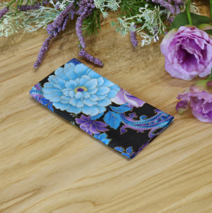 Floral Pocket square Purple Blue Roses Matching Hanky Metallic Gold Floral Blue Flowers Men's handkerchief Wedding Ties Special Order