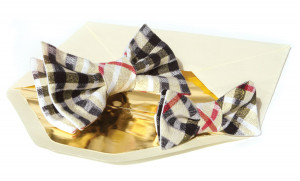 Father and Son Bow Tie Set Gold plaid Red  gift box Matching Tie Set  Boys bow tie. Boys birthday gift. Father's Day