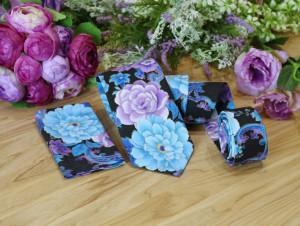 Floral Tie and Pocket square Set Purple Violet Metallic Gold Men's skinny Tie & Hanky Set Blue RosesTie BowTie Pocket square  Special Order