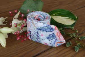 Tropical CORAL Reef Tie  Hawaii Floral Mens Necktie  David's Bridal  Men's skinny tie Wedding Ties  Necktie for Men Special Order SALE