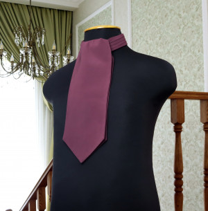 CHIANTI David's Bridal Wedding Cravat  Ascot Chianti  SELF TIE  Plum cravat  Men's Necktie  Wedding Tie Special Order