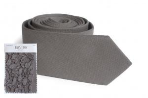 PORTOBELLO Tie David's Bridal Gray Beige Men's DimGray skinny tie  Wedding Ties  Necktie for Men Special Order SALE