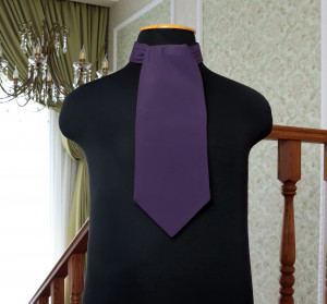 AMETHYST David's Bridal Wedding Cravat Amethyst Ascot  Self Tie  VERA WANG  cravat  Men's Necktie  Wedding Tie Special Order
