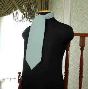 DUSTY SAGE David's Bridal Wedding Cravat Ascot  Self Tie  Dusty Sage cravat  Men's Necktie  Wedding Tie Special Order