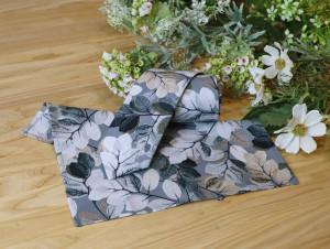 Tie and Pocket square Set Smoky Grey Metallic Pearl Sheer Leaves Men's skinny Tie & Hanky Set Cool Grey Tie Pocket square Special Order