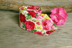 Floral  White Wedding Tie  Men's skinny Red White Roses tie  Necktie for Men Special Order