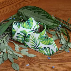 Tropical Necktie CARIBBEAN Tropical Weddings Floral Tie Palm Tropical Beaches Groomsmen Tie Beach Men's skinny tie Wedding Ties Jungle SALE