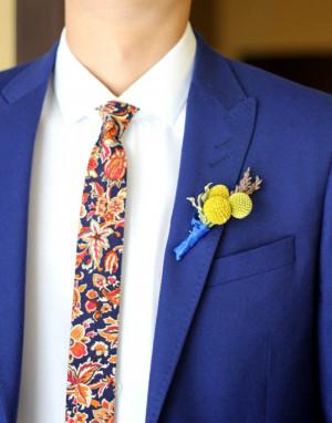 Wedding Floral Ties  Men's skinny tie  Necktie for Men Special Order
