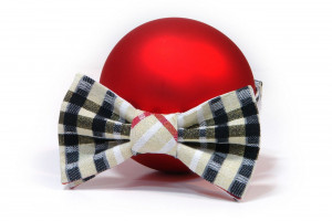 Bow-tie for Boys Gold plaid Red Tie Christmas  Boys bow tie. Boys birthday gift. holidays