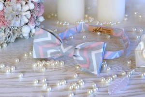 Bow Tie Gray Pink Chevron  Bow Tie Cotton  Wedding Grey Bow Tie SELF TIE Classic Bow Tie