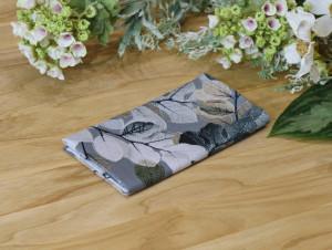 Floral Pocket square Smoky Grey Metallic Pearl Sheer Leaves Matching Hanky Floral Taupe Brown Men's handkerchief Wedding Ties Special Order