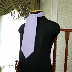 IRIS David's Bridal Wedding Cravat  Ascot Iris  SELF TIE  Lavender cravat  Purple  Men's Necktie  Wedding Tie Special Order
