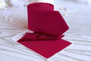 APPLE Tie David's Bridal  Apple Red Tie  Men's skinny tie  Groomsmen Tie  Custom Red Tie  APPLE Wedding Ties  Necktie for Men Special Order