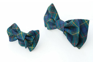 Father and Son Bow-Tie Set Teal, Navy, Red and Yellow plaid gift box Matching Tie Set  Boys bow tie. Boys birthday gift.