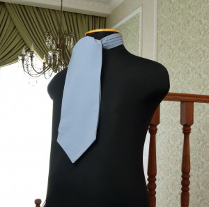 DUSTY BLUE David's Bridal Wedding Cravat  Ascot  Self Tie  Dusty Blue cravat  Men's Necktie  Wedding Tie Special Order