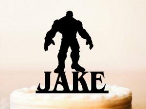 Hulk Cake Topper, Birthday Hulk Cake Topper, Personalised Superhero Cake Topper, Hulk party, Custom Birthday Cake Topper (0112)