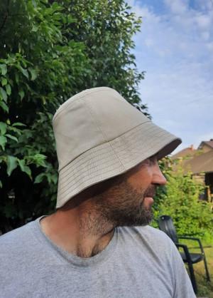 Men's cotton bucket hat, beige cotton sun hat,   men's rain hats, summer hats, sun protection hat,  Active style,  natural fabric hat