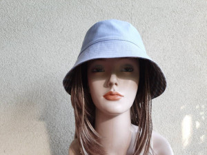 Women's denim bucket hat, cotton sun hat,   women's rain hats, summer hats