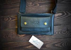 Leather waist bag, leather belt bag, genuine leather bag