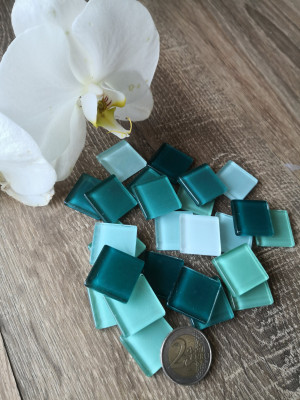 Teal Glass Mosaic Tiles, mix mint glass mosaic turquoise color, unique mix teal mosaic hot glass, diy turquoise home decor, diy mosaic decor