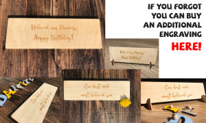 Extra option Engraving on the back of the board Your wish Birthday greetings Date Name Logo