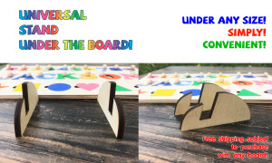 Accessory Wooden Puzzle Holder Wood Stand for busy board Stand for Signs Holder for Puzzle Board Stand under Educational board Montessori