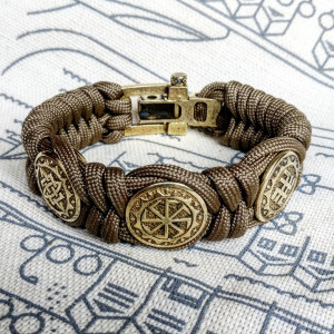 Viking  bracelet / Scandinavian  jewelry / gift for  him / paracord  bracelet / parachute  cord  / viking cuff  / biker bangle