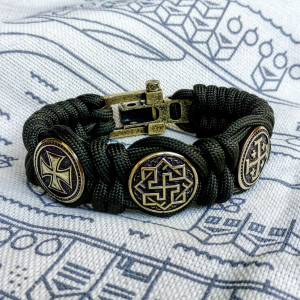 Paracord  bracelet / Templar bangle / gift for  him