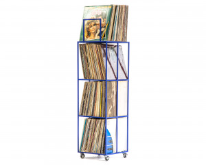 LP storage // 4 deck Album Сrate Сart // Blue edition // container holds around 280 LP records // free shipping