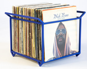 LP storage Blue edition // Album crate // Record box // Container holds over 70 LP records // free shipping