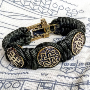 Viking bracelet / gift for him / paracord bracelet / parachute cord / viking cuff / biker bangle