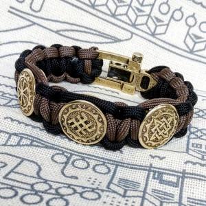 Viking  bracelet / Scandinavian  jewelry / gift for  him / paracord  bracelet / parachute  cord  / viking cuff  / biker bangle