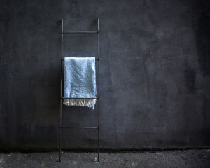 Blanket Display Skinny Ladder storage // Minimalistic functional decor // free shipping