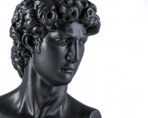 Male Bust Sculpture // Trendy ancient statue for Modern Home // Black edition // Etsy dude  // Free Shipping
